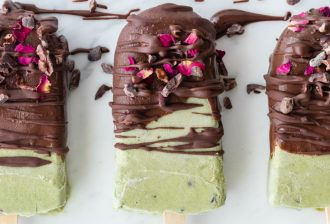 Recipe: Mint Chocolate Chip Protein Popsicles