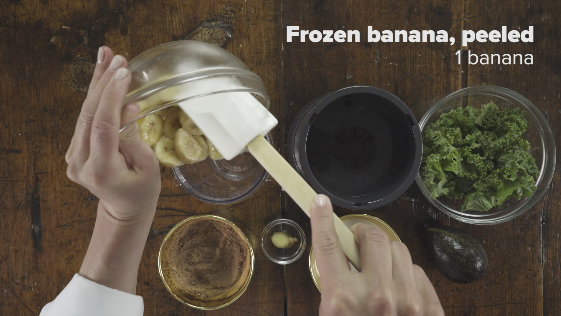Step 1 Add Frozen Banana