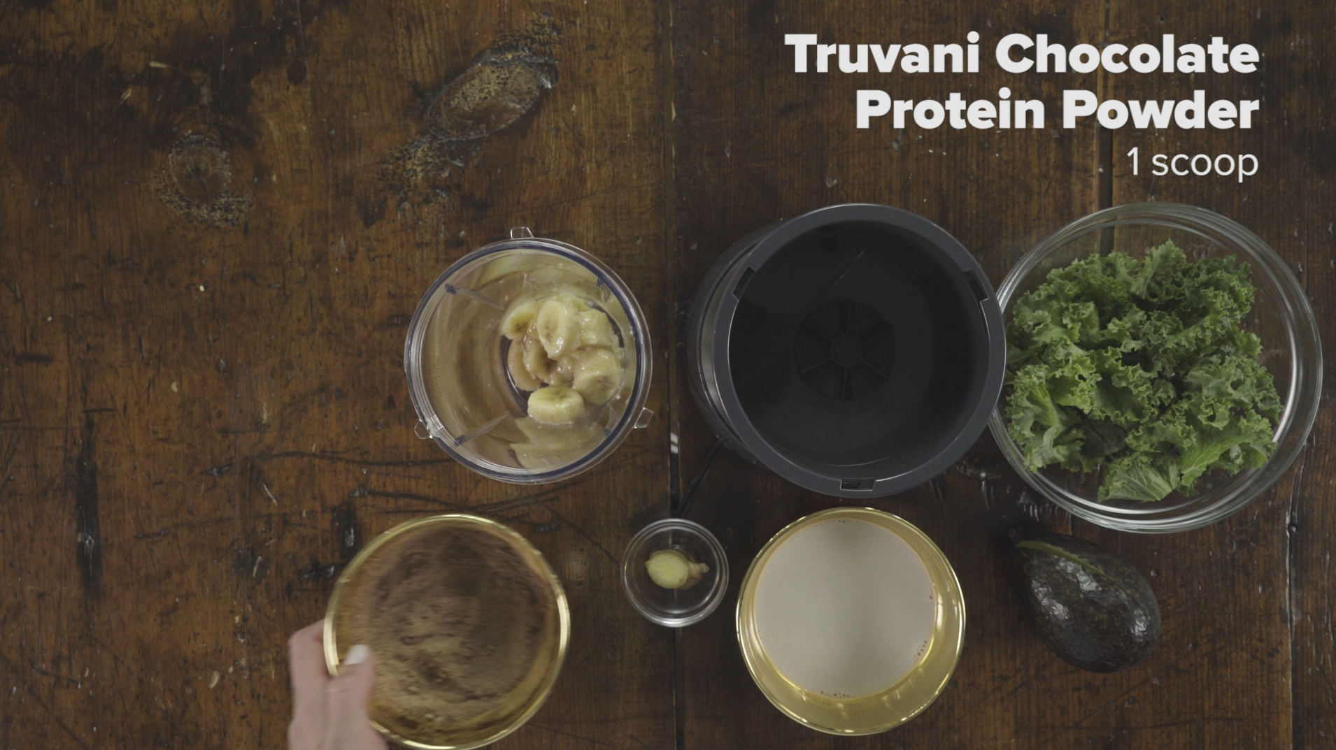 Step 2 Add 1 Scoop Truvani Chocolate Protein Powder