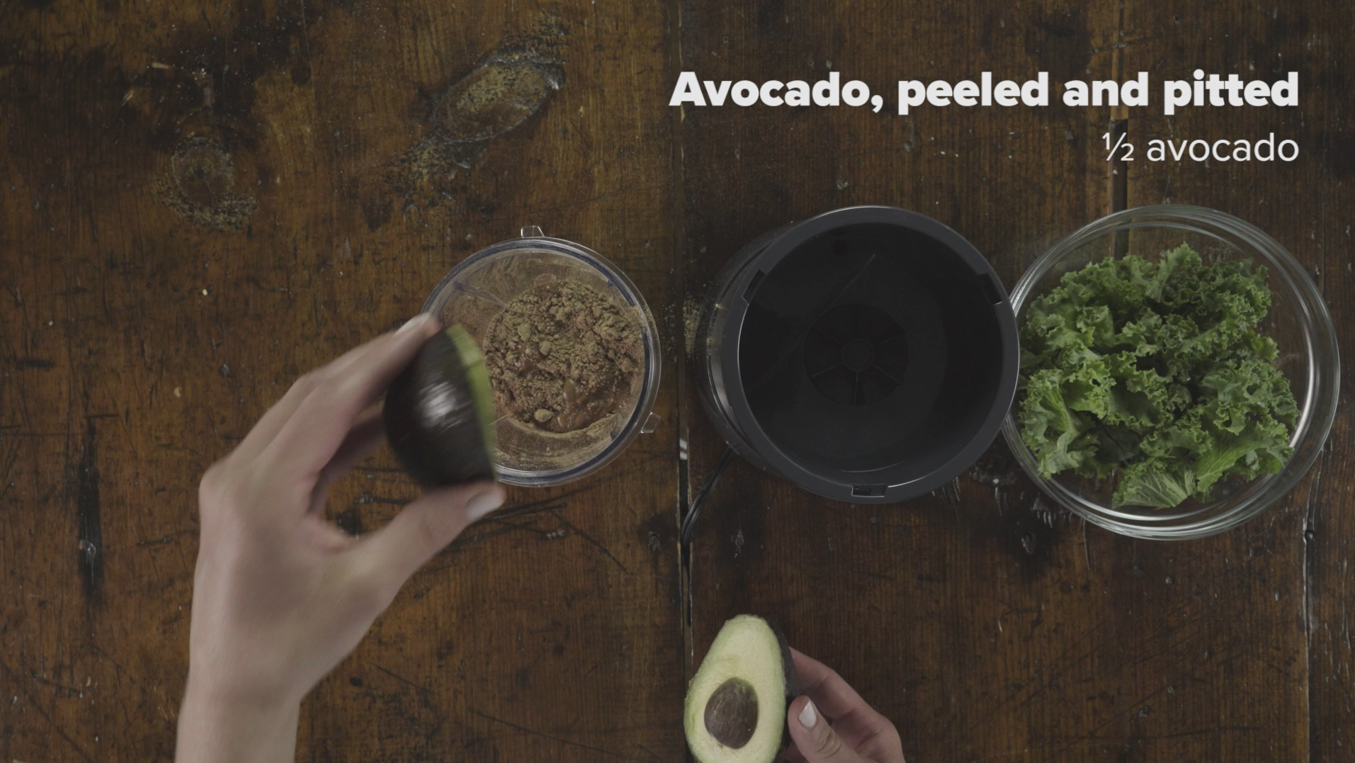 Step 5 Add Half Avocado Peeled and Pitted