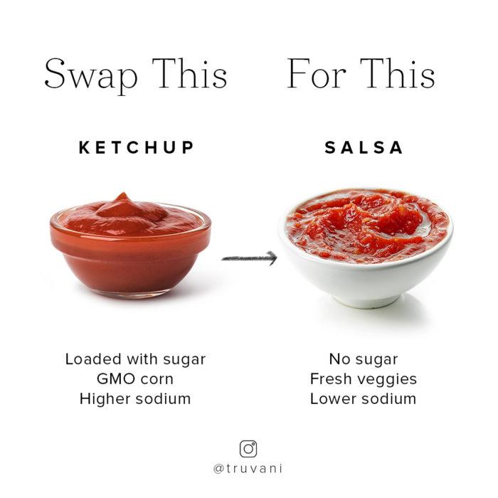 ketchup and salsa