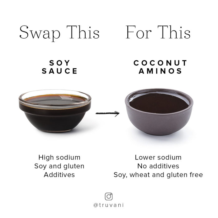 soy sauce and coconut aminos